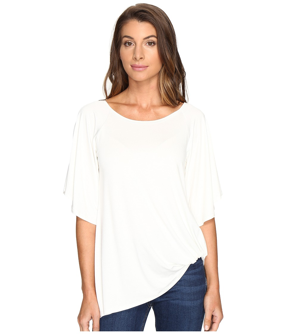 Karen Kane - Split-Sleeve Pick Up Top (Cream) Women's Clothing