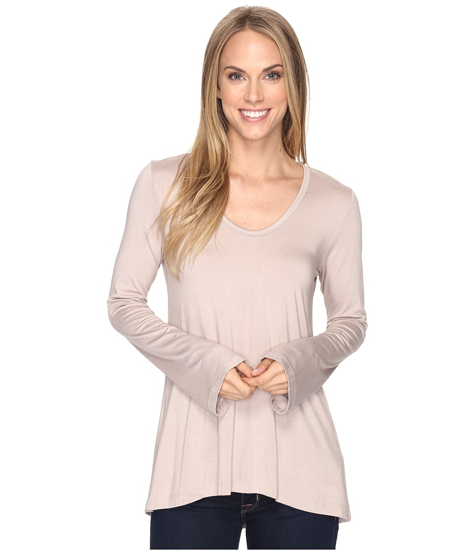Karen Kane - Flare Sleeve Hi-Lo Top (Sand) Women's Clothing