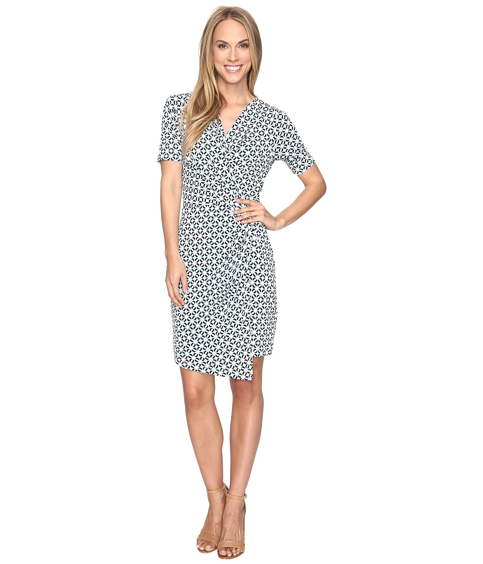 Karen Kane Crossover Drape Dress (Print) Women