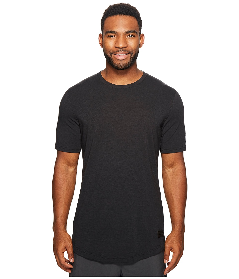 Under Armour UA Baseline Long Line Tee (Black/Black/Graphite) Men