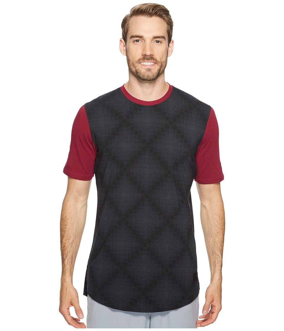 Under Armour UA Baseline Long Line Tee (Black/Black Currant/Black) Men