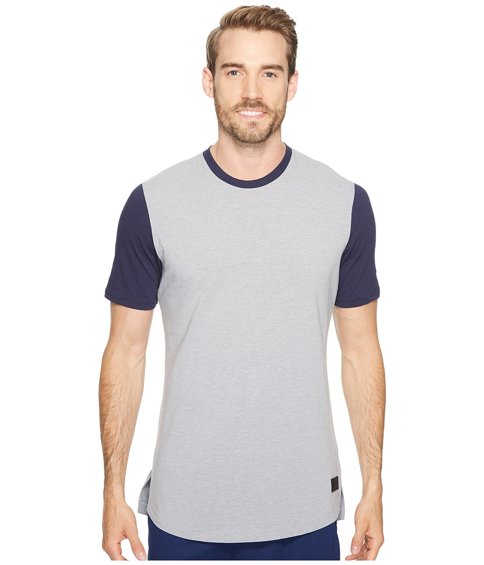 Under Armour - UA Baseline Long Line Tee (Steel Light Heather/Midnight Navy/Steel) Men's T Shirt