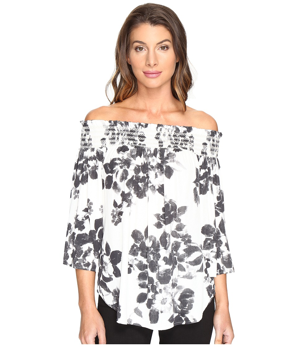 Karen Kane - Off the Shoulder Top (Print) Women's Blouse
