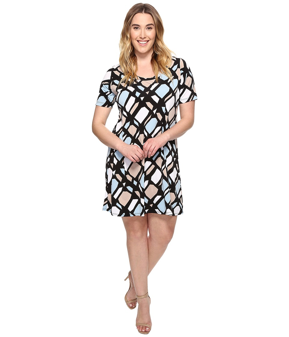 Karen Kane Plus - Plus Size A-Line Dress (Print) Women's Dress