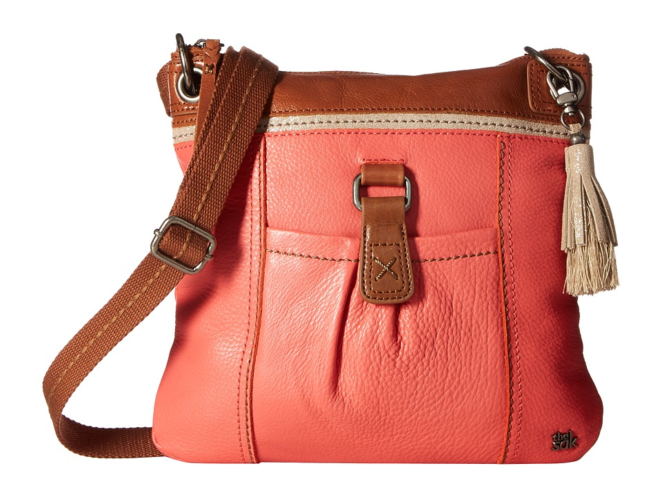 The Sak - Kendra Leather Crossbody (Coral Block) Cross Body Handbags