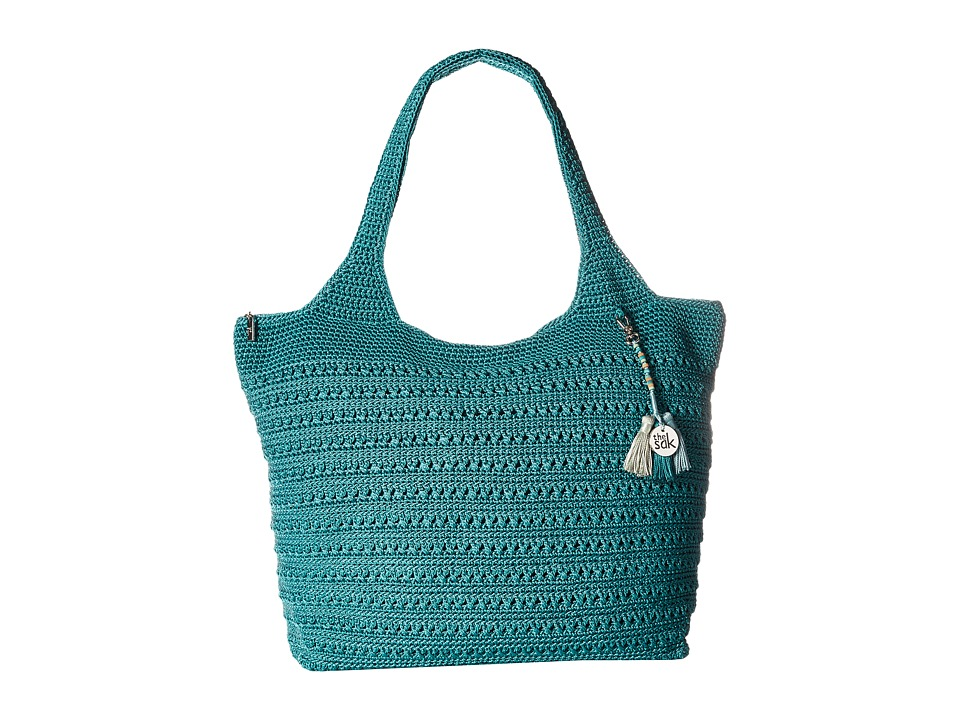 The Sak - Palm Springs Extra Large Tote (Azure) Tote Handbags