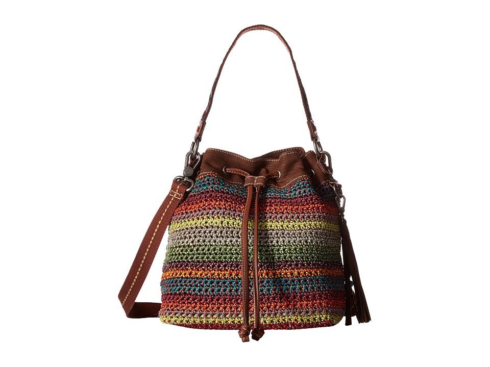 The Sak - Ukiah Crochet Drawstring (Gypsy Stripe) Drawstring Handbags