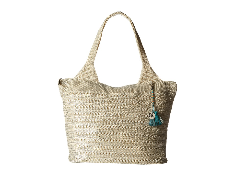 The Sak - Palm Springs Extra Large Tote (Natural Metallic) Tote Handbags