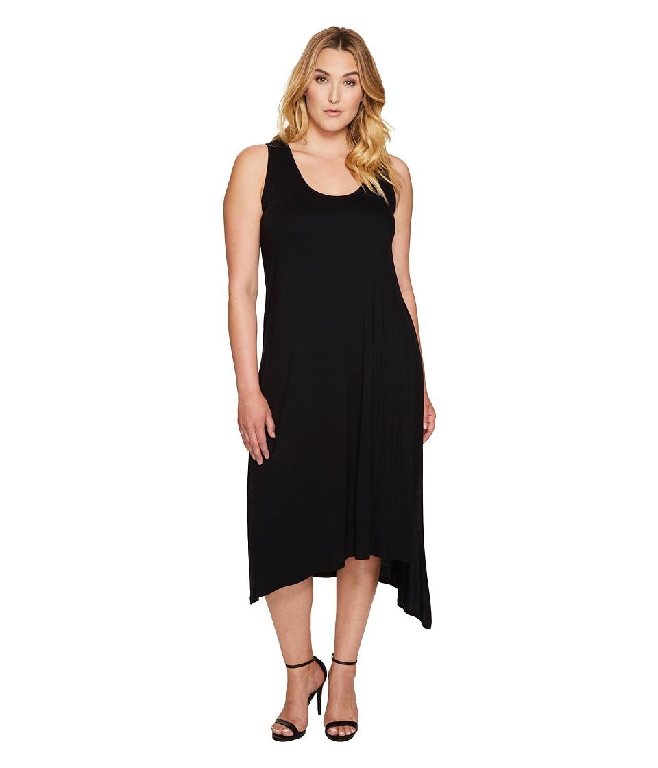Karen Kane Plus Plus Size Stevie Tank Dress (Black) Women