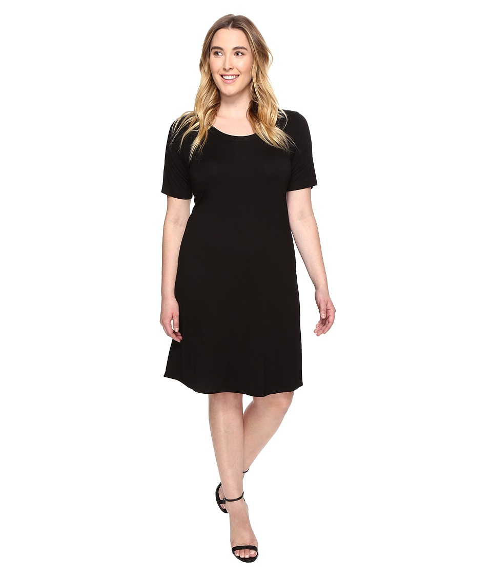 Karen Kane Plus - Plus Size A-Line Dress (Black) Women's Dress