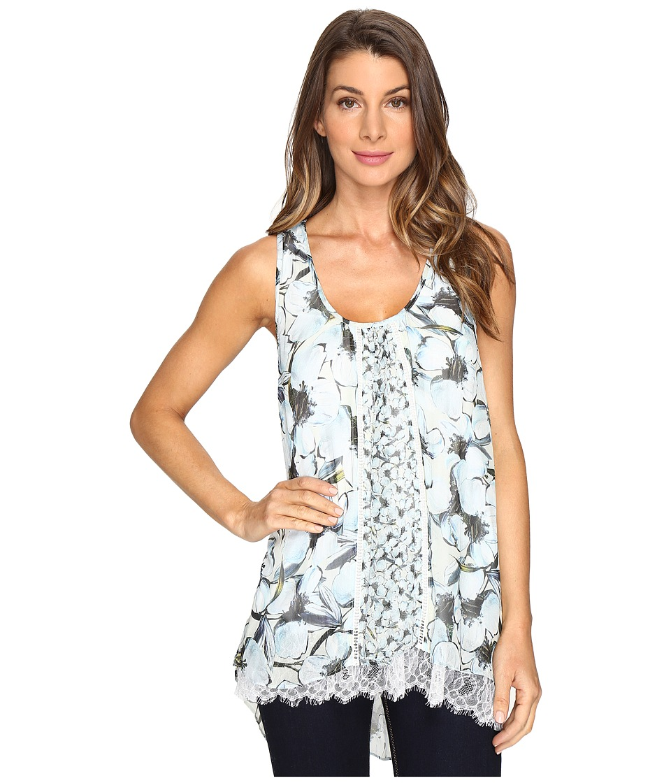 Karen Kane - Lace Hem Tank Top (Print) Women's Clothing