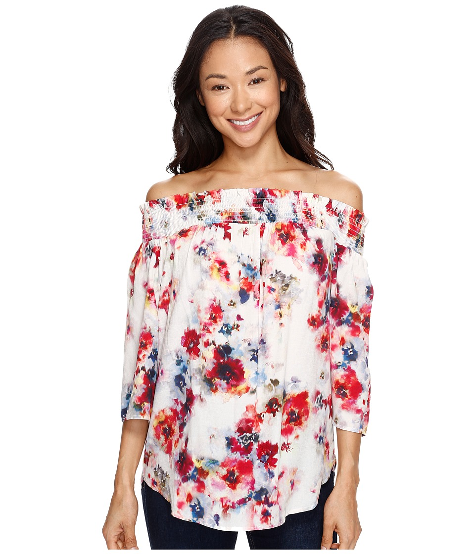Karen Kane - Off the Shoulder Top (Print) Women's Clothing