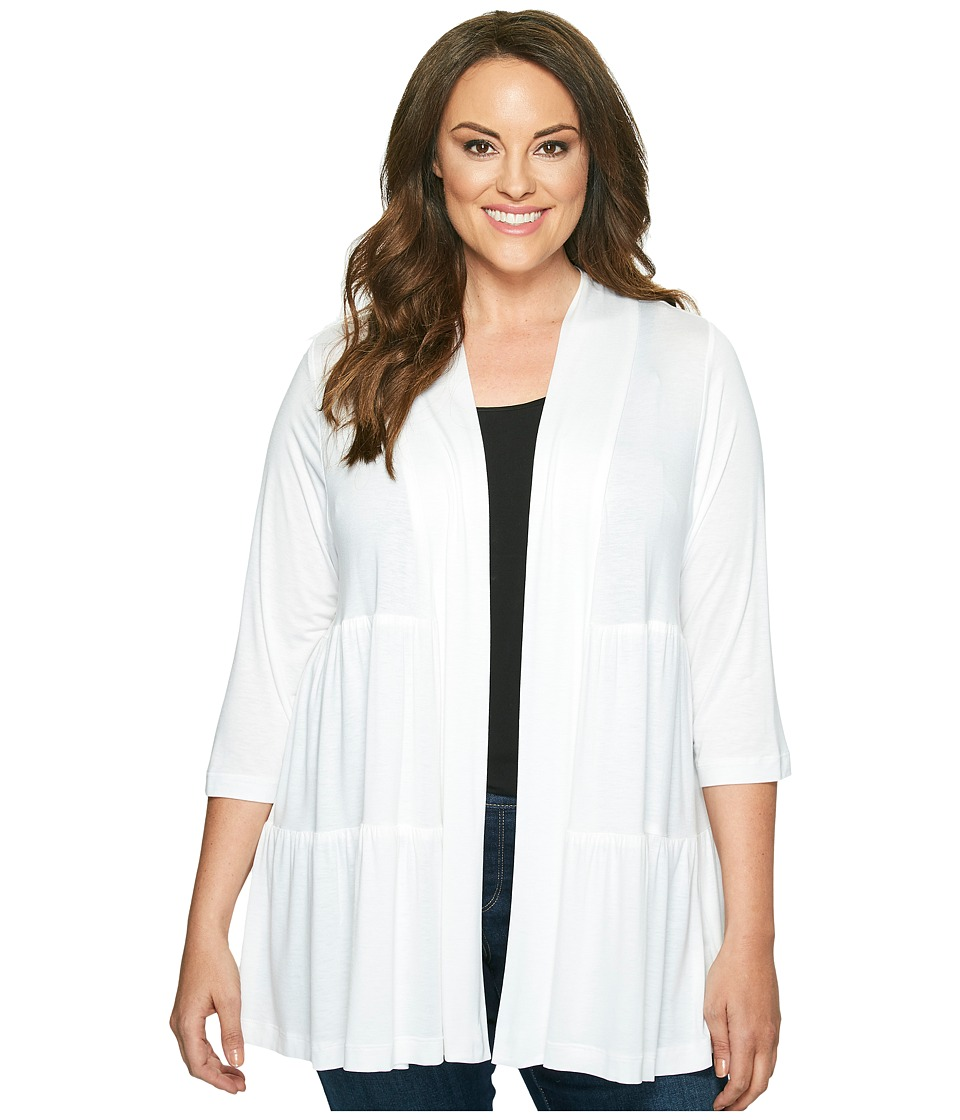 Karen Kane Plus - Plus Size Tiered Jacket (Off-White) Women's Jacket