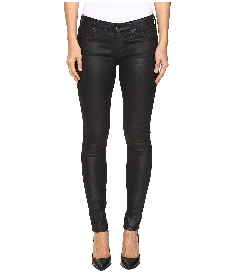 AG Adriano Goldschmied Leggings Ankle in Crackle Black (Crackle Black) Women
