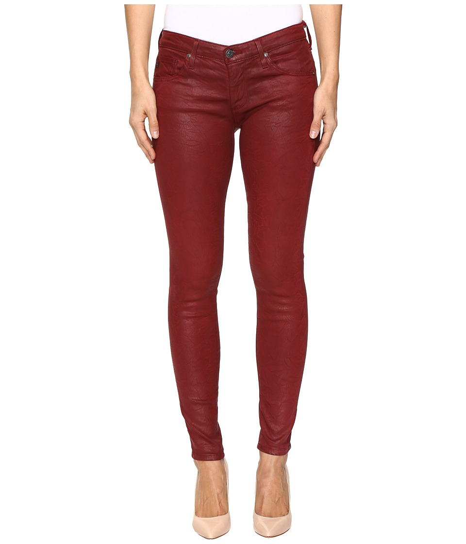 AG Adriano Goldschmied Leggings Ankle in Crackle Ruby Rouge (Crackle Ruby Rouge) Women