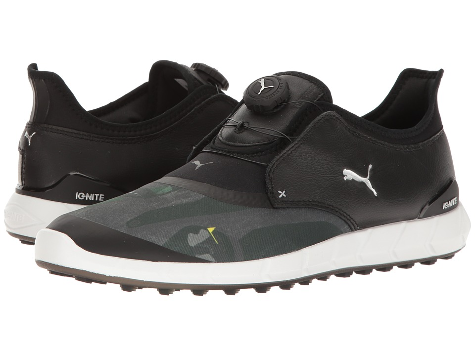 PUMA Golf - Ignite Spikeless Sport Disc (Puma Black/Puma Silver/Quiet Shade) Men's Shoes