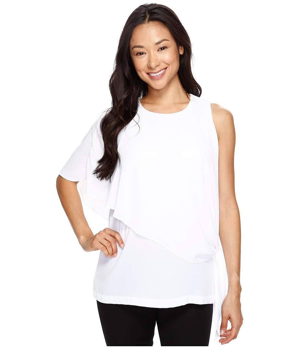 Karen Kane - Asymmetric Side Tie Top (Off-White) Women's Clothing
