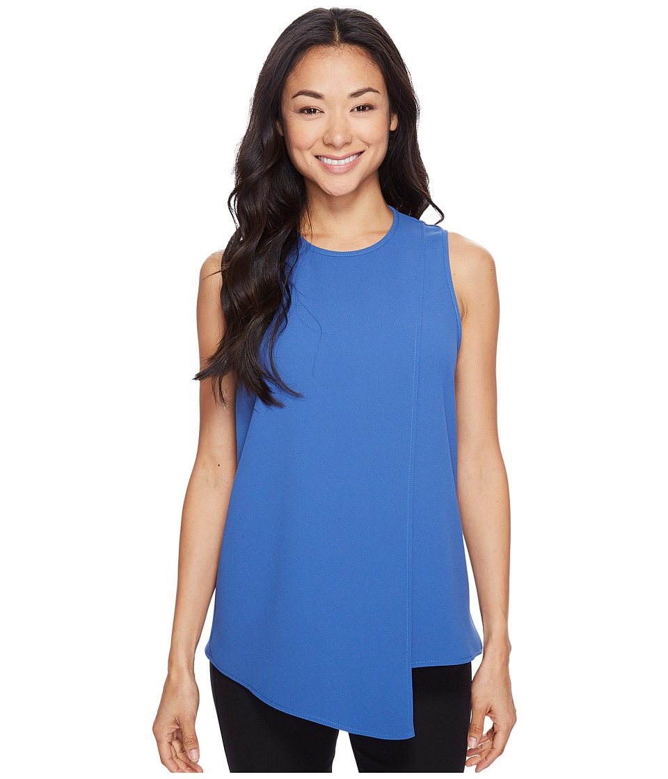 Karen Kane - Asymmetric Sleeveless Top (Indigo) Women's Clothing