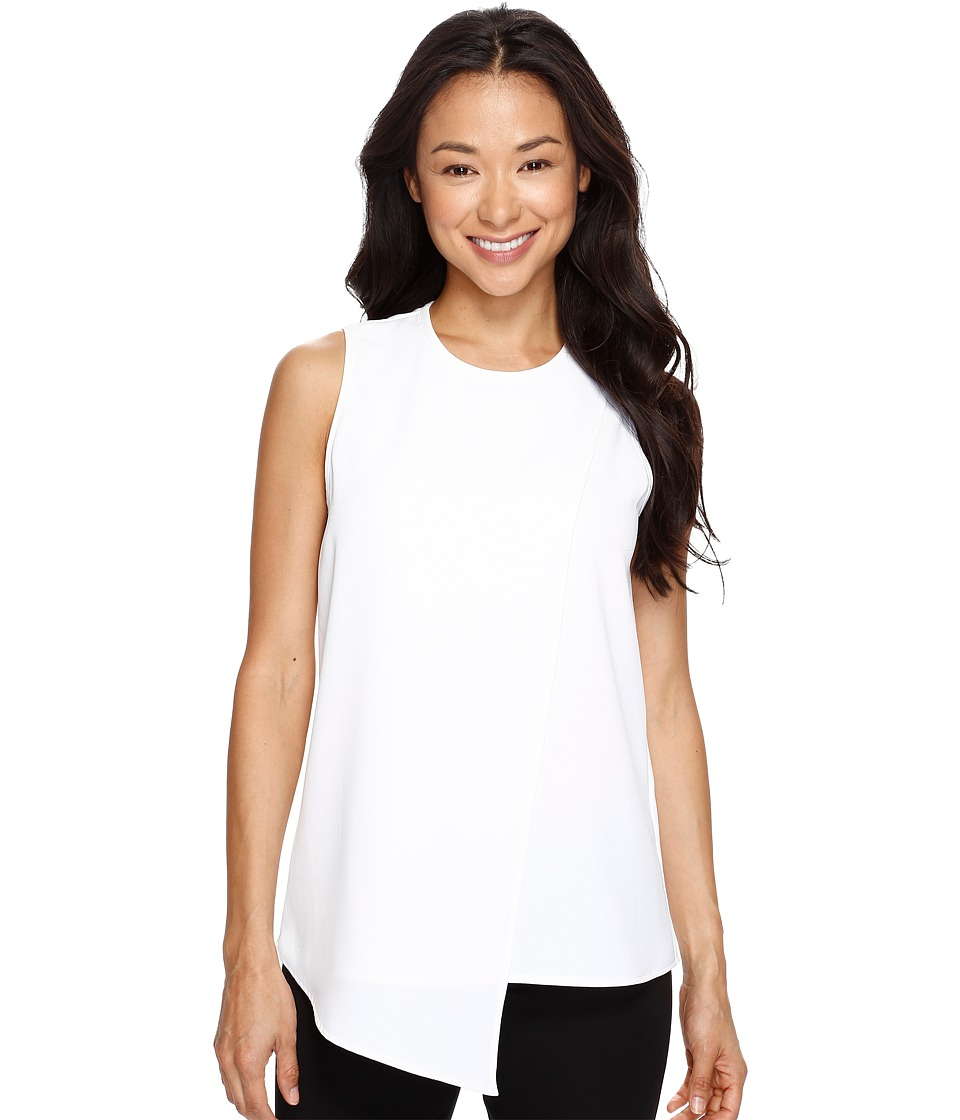 Karen Kane - Asymmetric Sleeveless Top (Off-White) Women's Clothing