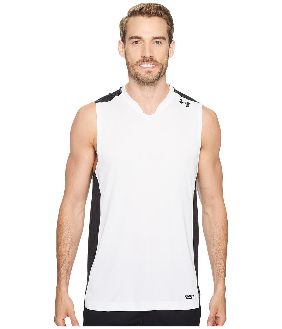 Under Armour - UA Team Tank Top (White/Black/Black) Men's Sleeveless