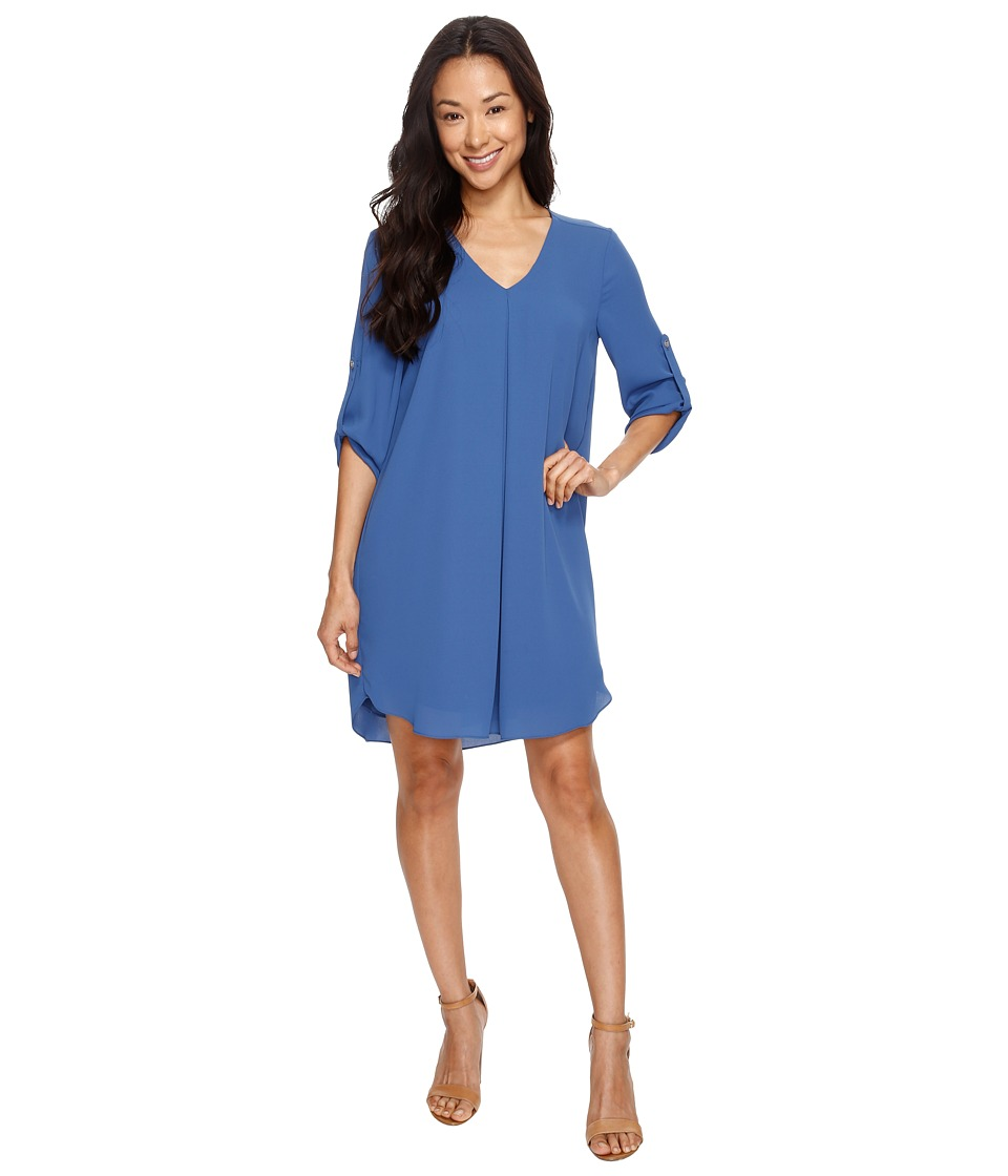 Karen Kane - Roll-Up Sleeve Dress (Indigo) Women's Dress