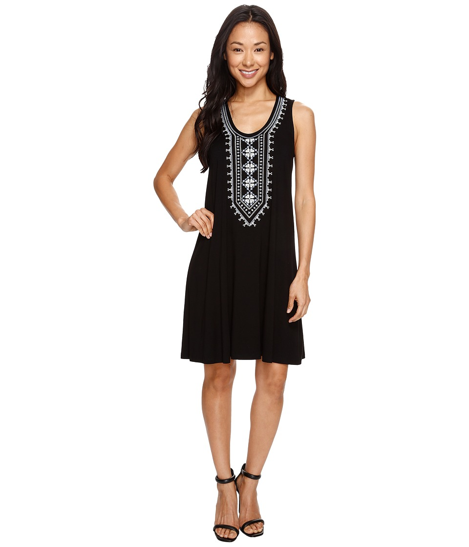Karen Kane - Embroidered Sleeveless Dress (Black) Women's Dress