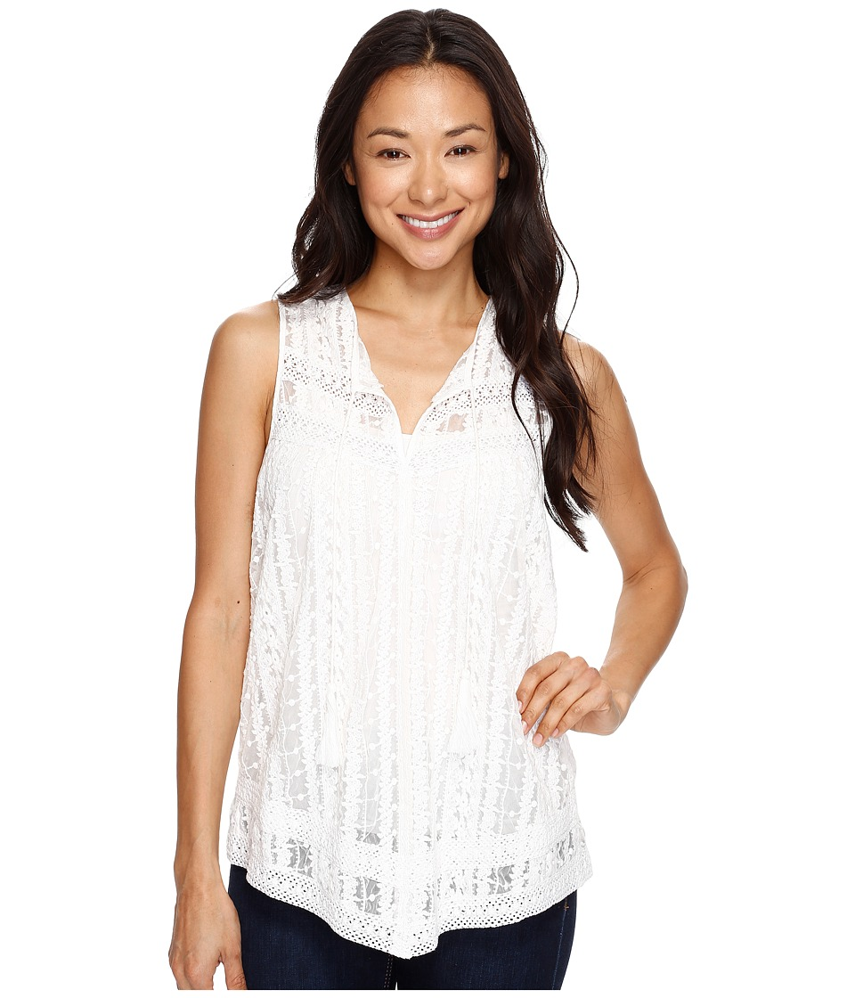 Karen Kane - Embroidered Lace Top (Off-White) Women's Blouse