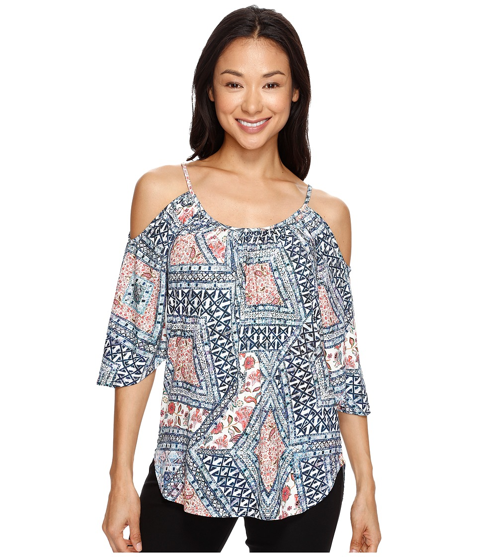 Karen Kane - Cold Shoulder Angel Top (Print) Women's Clothing