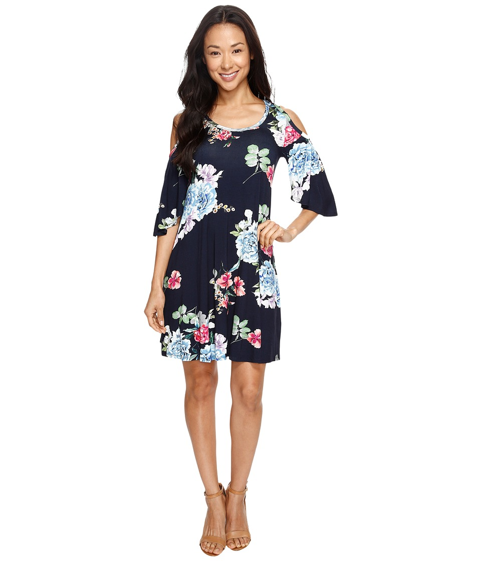 Karen Kane Garden Rose Cold Shoulder Dress (Floral) Women