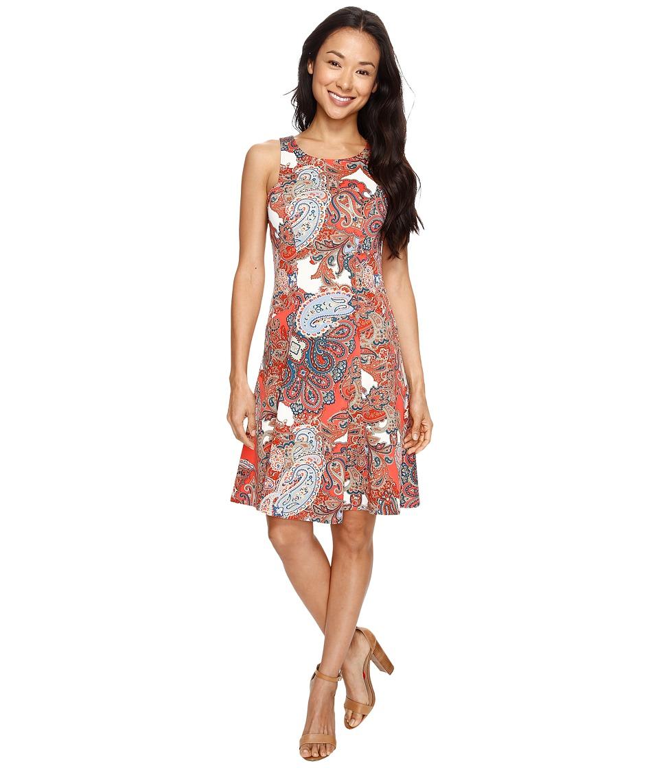 Karen Kane - Paisley Print Flare Dress (Print) Women's Dress
