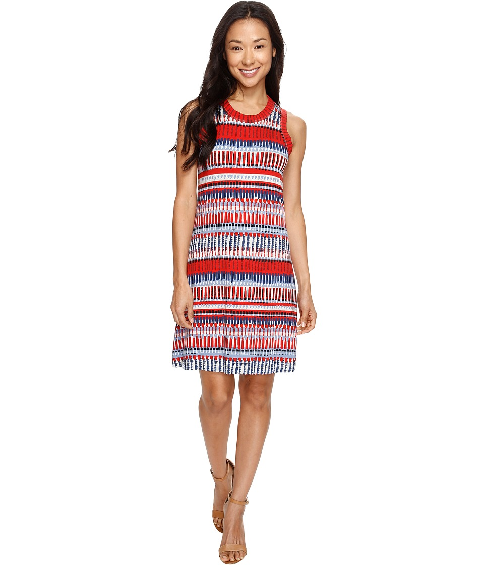 Karen Kane Painted Stripe Halter Dress (Print) Women