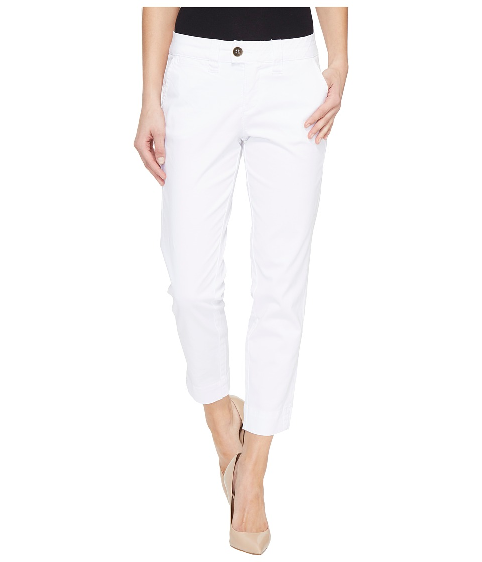 Jag Jeans - Creston Ankle Crop in Bay Twill (White) Women's Casual Pants