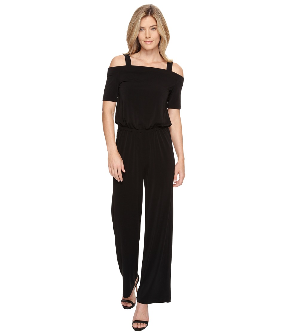 Karen Kane - Off the Shoulder Jumpsuit (Black) Women's Jumpsuit & Rompers One Piece