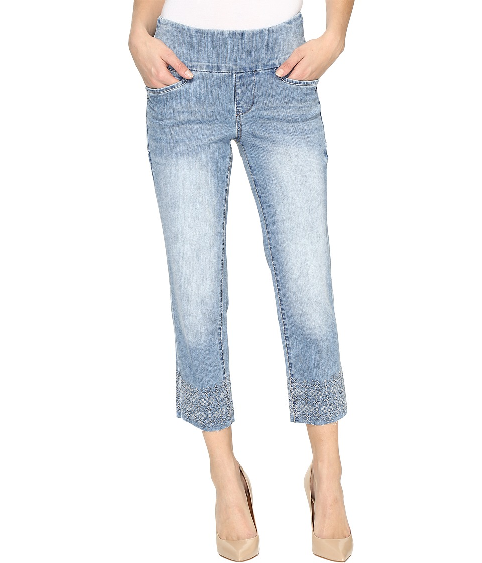 Jag Jeans - Baker Pull-On Crop Comfort Denim in Blue Issue w/ Embroidered Hem (Blue Issue/Hem Embroidered) Women's Jeans