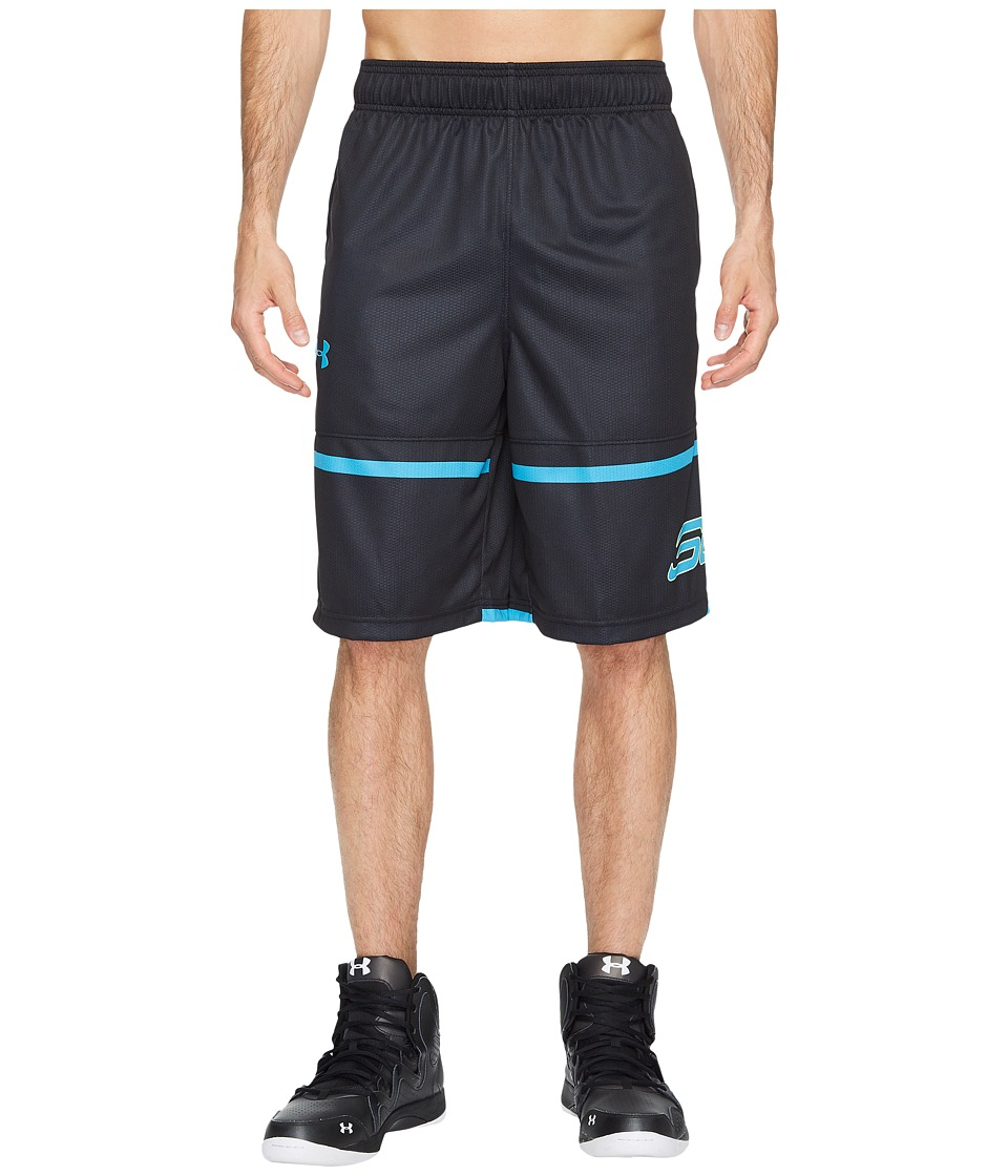 Under Armour - SC30 Pick and Roll 11 Shorts (Black/Blue Shift/Blue Shift) Men's Shorts