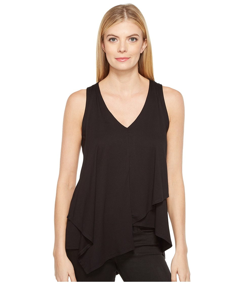 Karen Kane - Drape Front Tank Top (Black) Women's Sleeveless