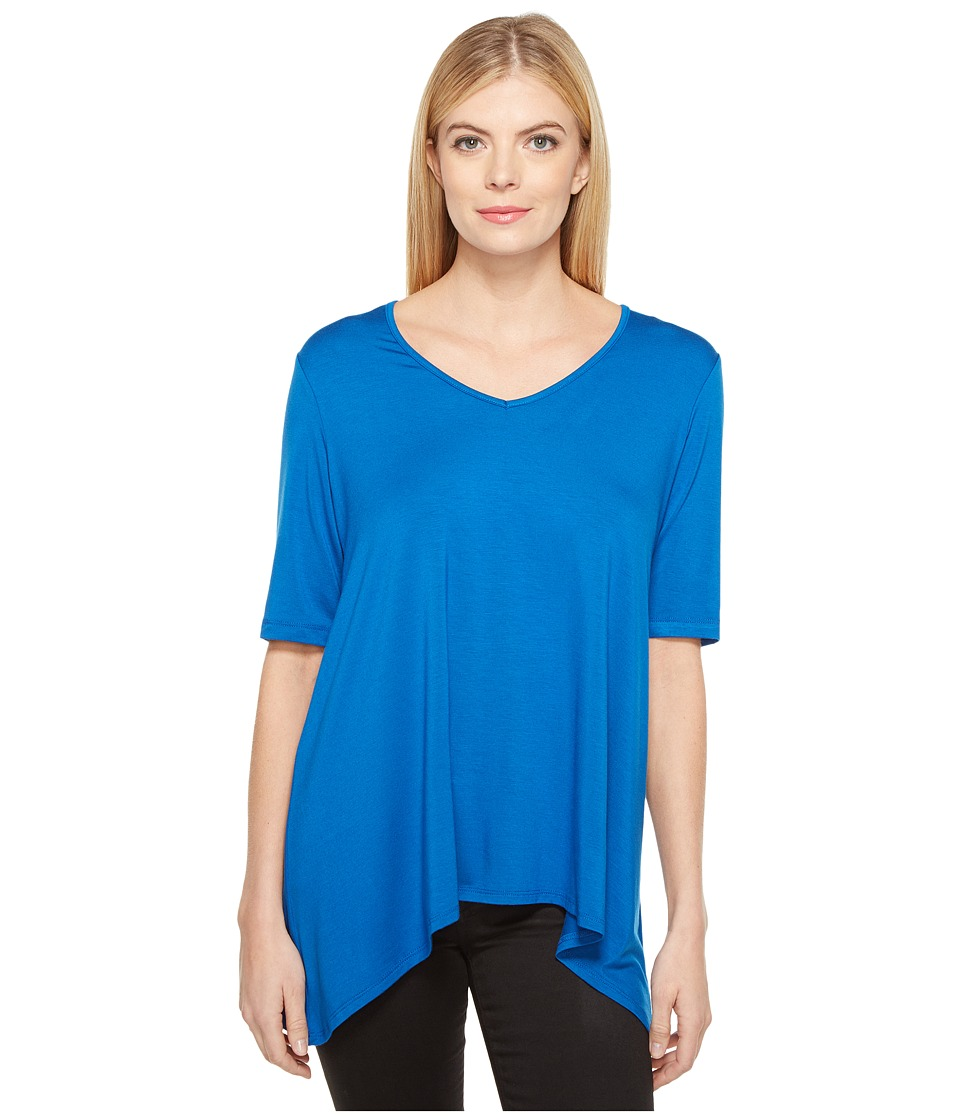 Karen Kane - Short Sleeve Swing Top (Cobalt) Women's Clothing