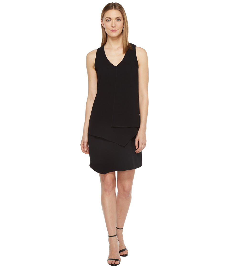 Karen Kane - Layered Angle Dress (Black) Women's Dress