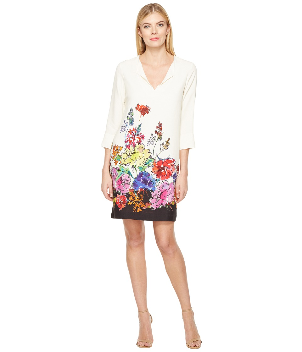 Karen Kane - Floral Border Shift Dress (Print) Women's Dress