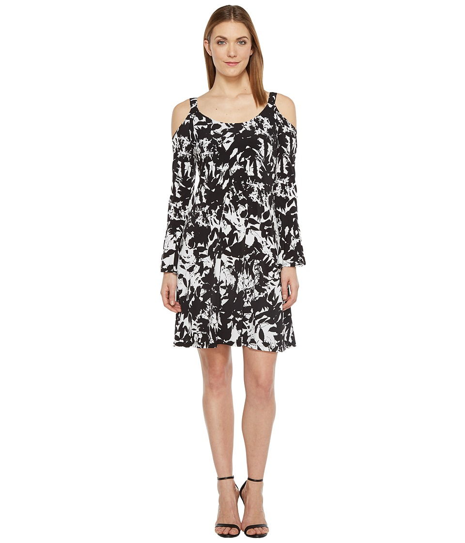 Karen Kane Cold Shoulder Flare Sleeve Dress (Print) Women