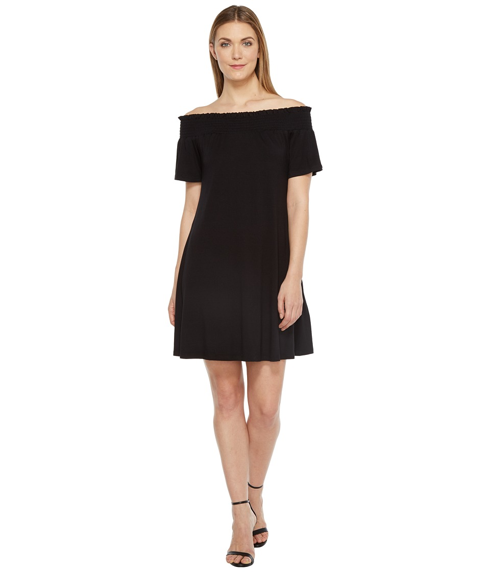 Karen Kane - Off the Shoulder Swing Dress (Black) Women's Dress