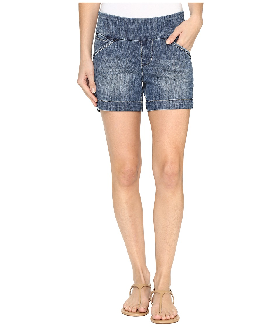 Jag Jeans - Ainsley Pull-On 5 Shorts Comfort Denim in Weathered Blue (Weathered Blue) Women's Shorts