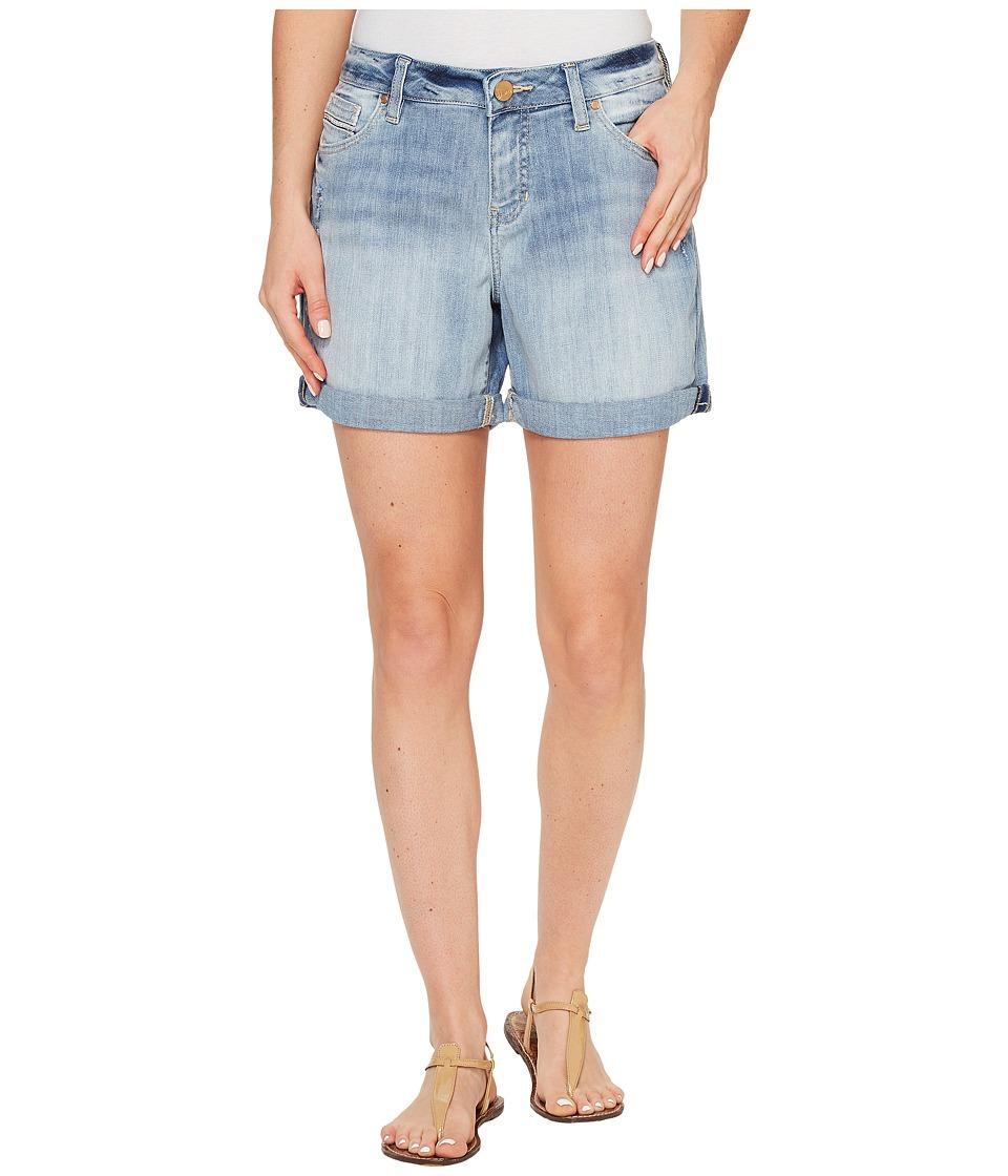 Jag Jeans - Alex Boyfriend Shorts Platinum Denim in Cool Blue w/ Destruction (Cool Blue/Destroy) Women's Shorts