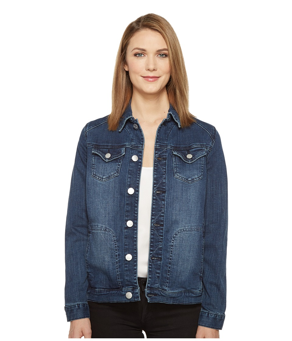 Jag Jeans - Lowen Stretch Jacket in Crosshatch Denim in Thorne Blue (Thorne Blue) Women's Coat