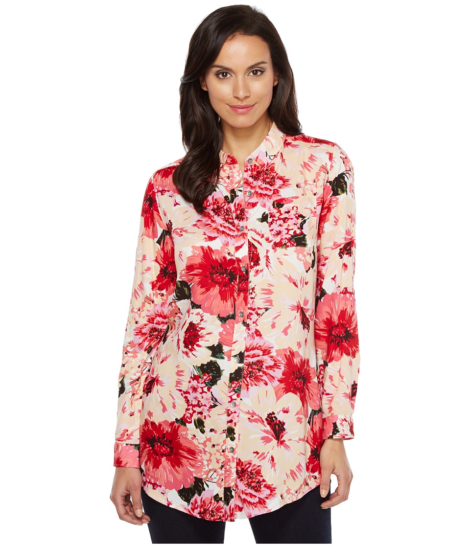 Jag Jeans - Magnolia Tunic in Rayon Print (Pink Poppies) Women's Blouse