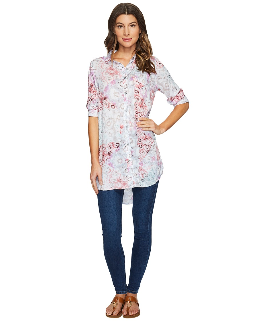 Jag Jeans - Magnolia Tunic in Rayon Print (Multi/Watercolor) Women's Blouse