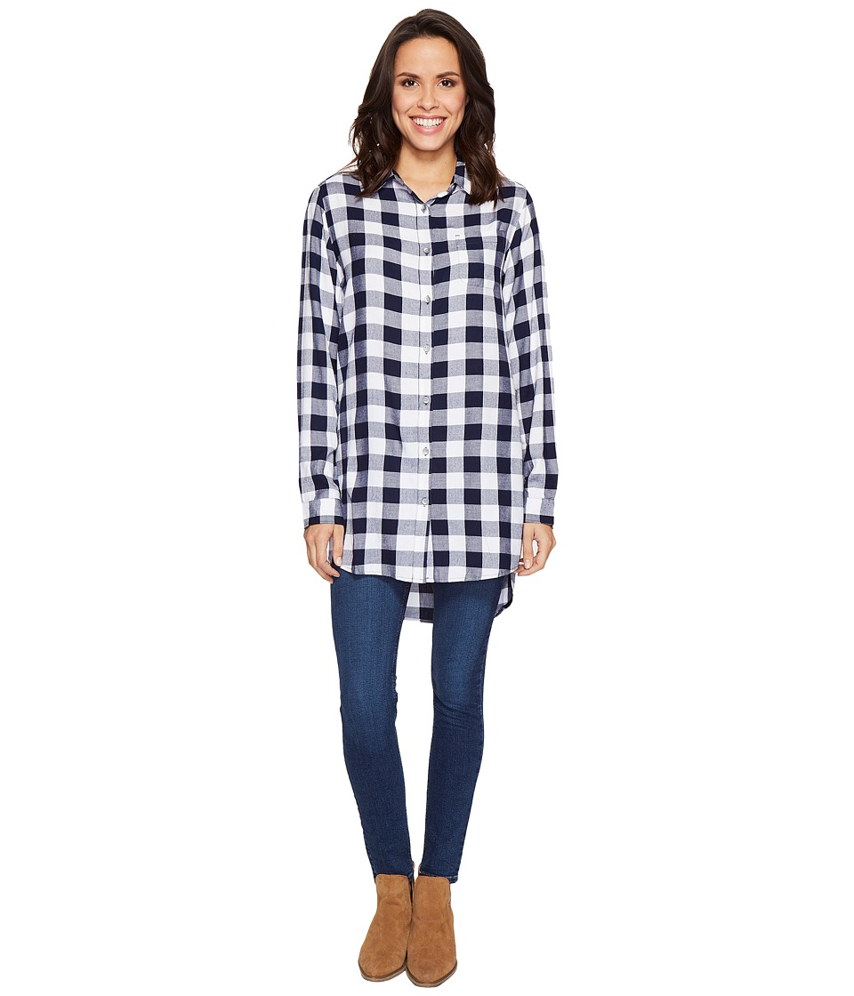 Jag Jeans - Magnolia Tunic in Rayon Plaid (Sailor Plaid) Women's Blouse