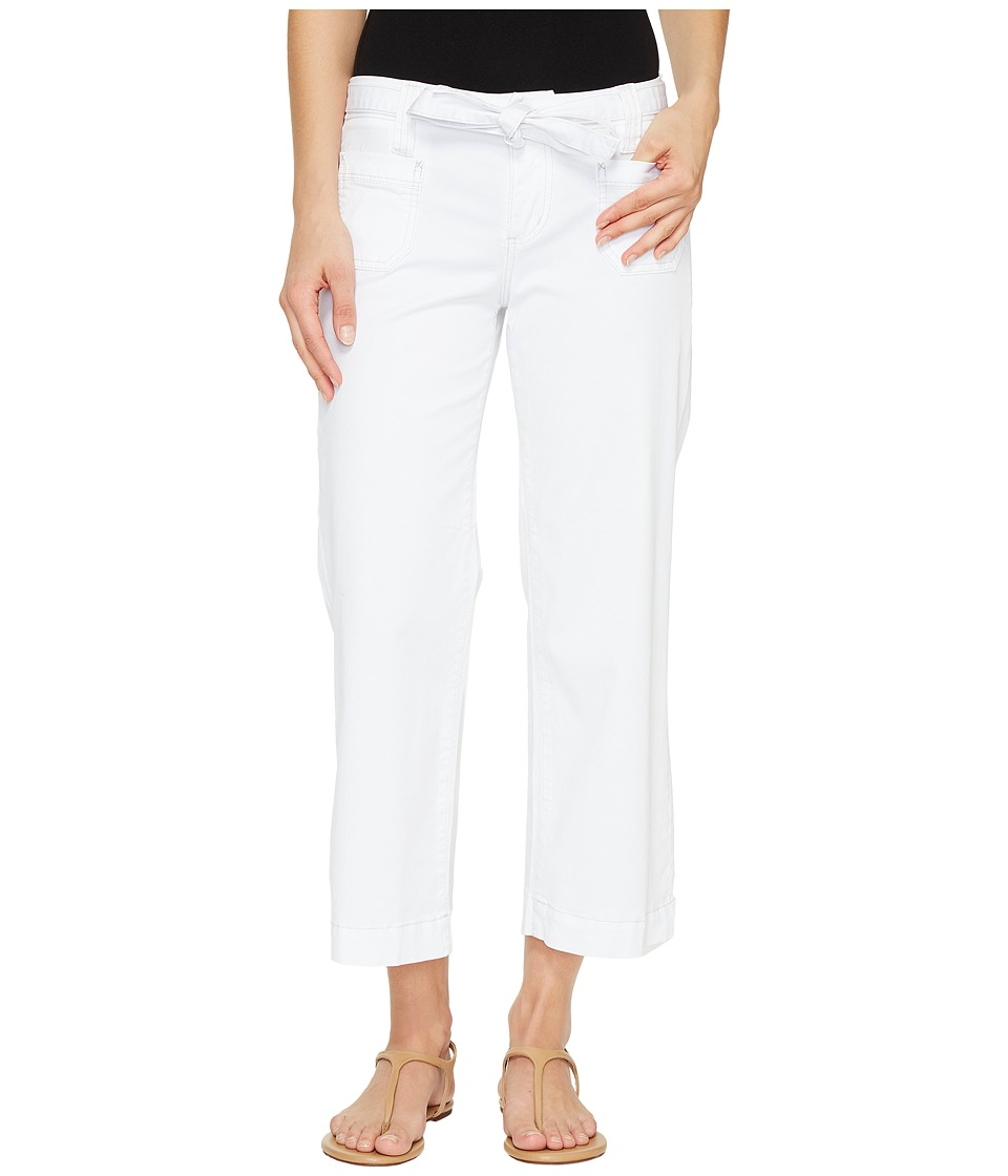 Jag Jeans - Wallace Crop in Bay Twill (White) Women's Casual Pants
