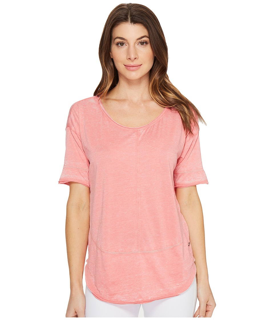 Jag Jeans - Cafe Tee in Burnout Jersey (Coral Reef) Women's T Shirt