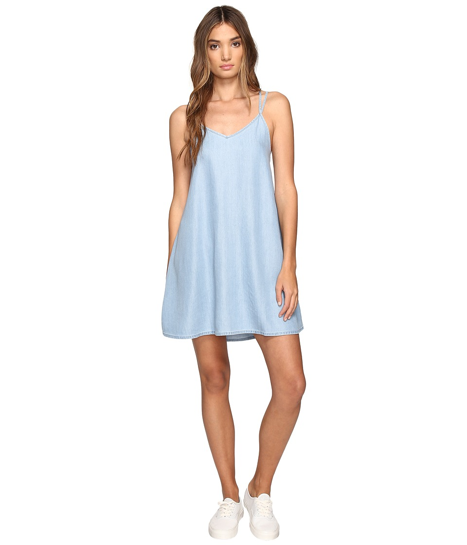 RVCA Salene Dress (Light Indigo) Women